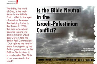 'Mind-Blowing' Bible Experience Answers: God Gave Israel To Jews?  | Israel | real utopias | Scoop.it