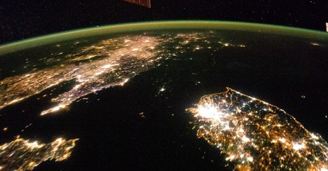 Photos From Space: At Night, North Korea Goes Black | RIC World Regional Geography | Scoop.it
