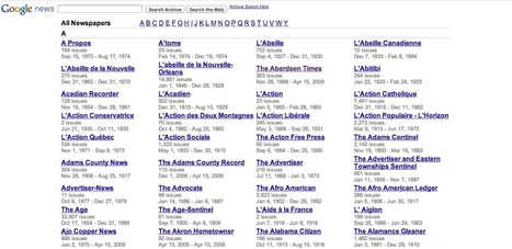 Browse Hundreds of Old Newspapers in the Google News Newspaper Archive | terceiro grau acadêmico ou tecnológico? | Scoop.it