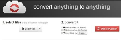 Convertir tout en tout à l'aide de CloudConvert (205 formats supportés) | Applications du Net | Scoop.it