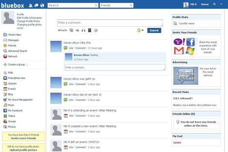 how to make a social networking site using html