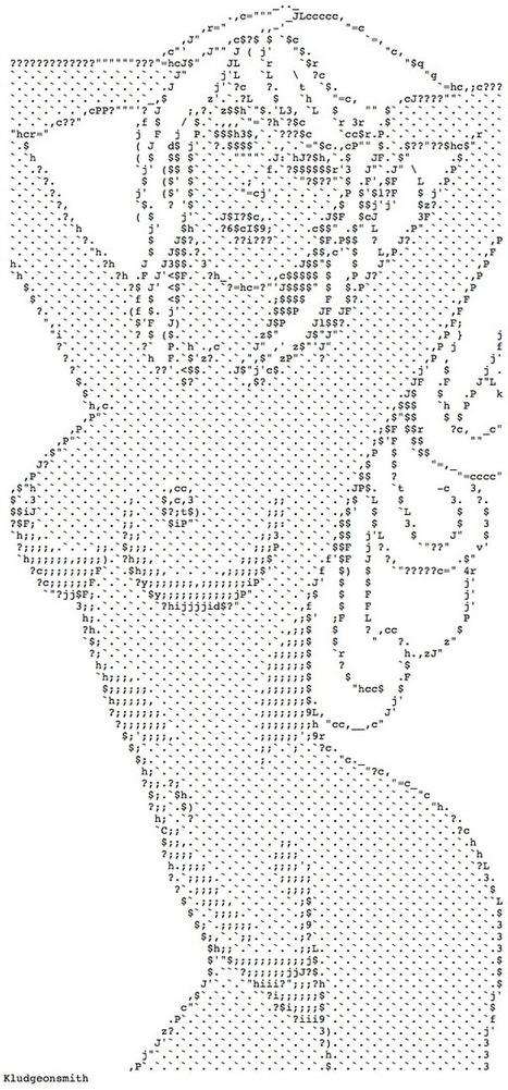 Naked Women Ascii Art 15
