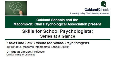 Skills for School Psychologists:  Series at a glance   School Psychology in the 21st Century   Scoop.it