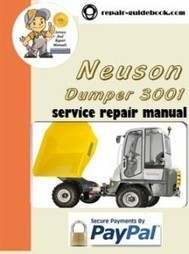 Neuson Dumper 3001 Workshop Service Repair Manual   pdf download Factory&Workshop Repair Manual Service Manuals   DO IT YOURSELF   Scoop.it