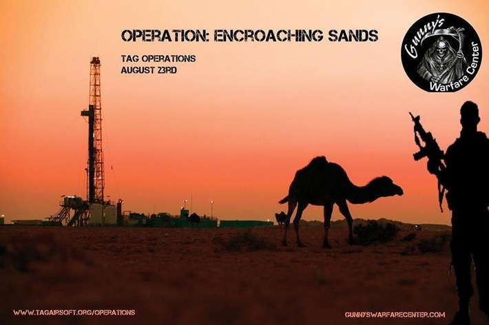 NORTH CAROLINA: August 23 at GUNNY's WARFARE CENTER - Operation: Encroaching Sands by TAG OPERATIONS   Thumpy's 3D Airsoft & MilSim EVENTS NEWS ™   Scoop.it