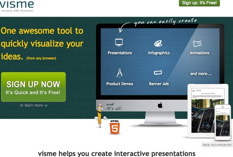 Create Interactive Online Presentations, infographics, animations & banners in HTML5 - Visme by Easy WebContent | newmedia_edu | Scoop.it