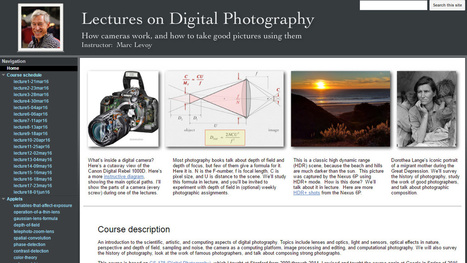 Stanford Professor puts his entire digital photography course online for free - DIY Photography | Teaching & Learning Resources | Scoop.it