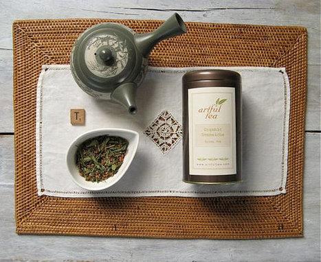 Thé vert Genmaicha organique, japonais Bancha avec riz grillé, mélange de thé de feuilles mobiles luxe | La cuisine du thé, la boisson du thé | Scoop.it