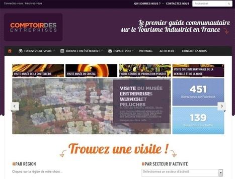 Comptoir des entreprises : nouveau guide en ligne sur le tourisme industriel | Tourisme numérique | Scoop.it