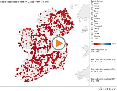 Robert M Chapple, Archaeologist: Geolocated Radiocarbon Dates from Ireland: An introduction to the data visualisation | microburin mesolithic archaeology | Scoop.it