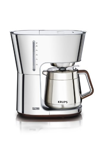 Krups kt600 silver art collection thermal caraf krups kt600 silver art collection thermal carafe coffee maker with chrome stainless steel housing silver 10 cup fandeluxe Image collections