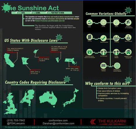 Physician Payment Sunshine Act great infographic from @FDALawyers  thanks | Expertpatient | Scoop.it
