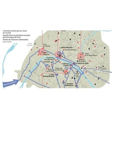 25 août 1944 : comment Paris a été libéré | Cartes historiques et cartes d'Histoire | Scoop.it