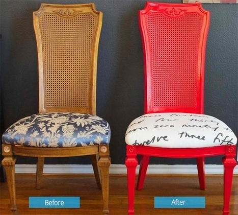 15 Great Ideas To Give Old Chairs A Stylish Makeover | Upcycled Objects | Scoop.it