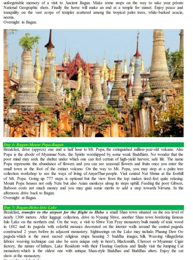 Myanmar Package Holidays: Travel to Myanmar: 07 Days Amazing Myanmar Holiday. | snailadventure