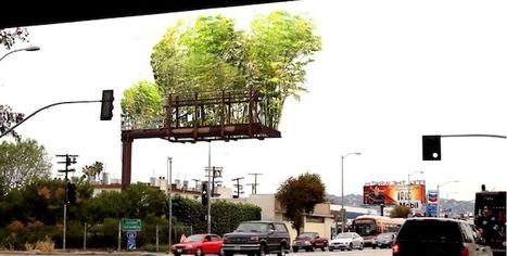 Los Angeles freeways go green with bamboo billboards | espaces publics urbains | Scoop.it