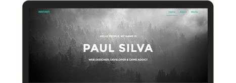 Instant - Personal Portfolio Theme | Freakinthecage Webdesign Lesetips | Scoop.it