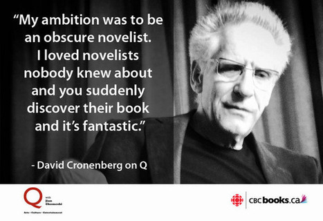 David Cronenberg on his novel Consumed | 'Cosmopolis' - 'Maps to the Stars' | Scoop.it