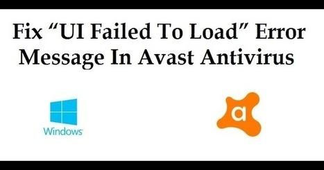 avast safe mode ui failed to load