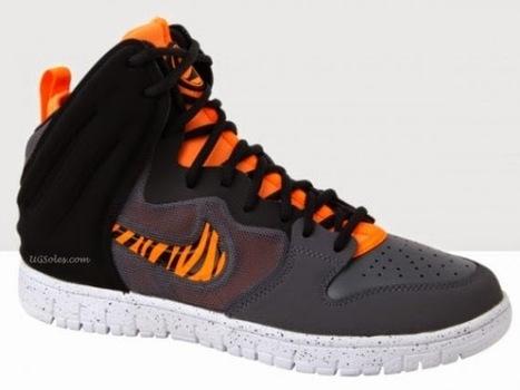 2b765b68b494 High Tops Cartoon Dunks  Nike Free Tennis Shoes Tigger High Tops Grey  Orange For Men