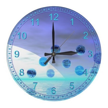 Moonlight Wonder, Abstract Journey to the Unknown Wallclock from Zazzle.com | Fashion to Delight You for Home and to Wear | Scoop.it