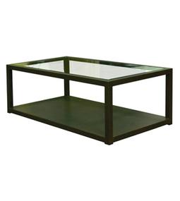 mesa de centro hierro y cristal