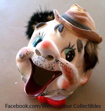 Vintage Hobo Ashtray with Hair | Antiques & Vintage Collectibles | Scoop.it