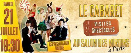 Soirée Cabaret au Salon des Miroirs - Lutetia : une aventurière à Paris   Paris Secret et Insolite   Scoop.it