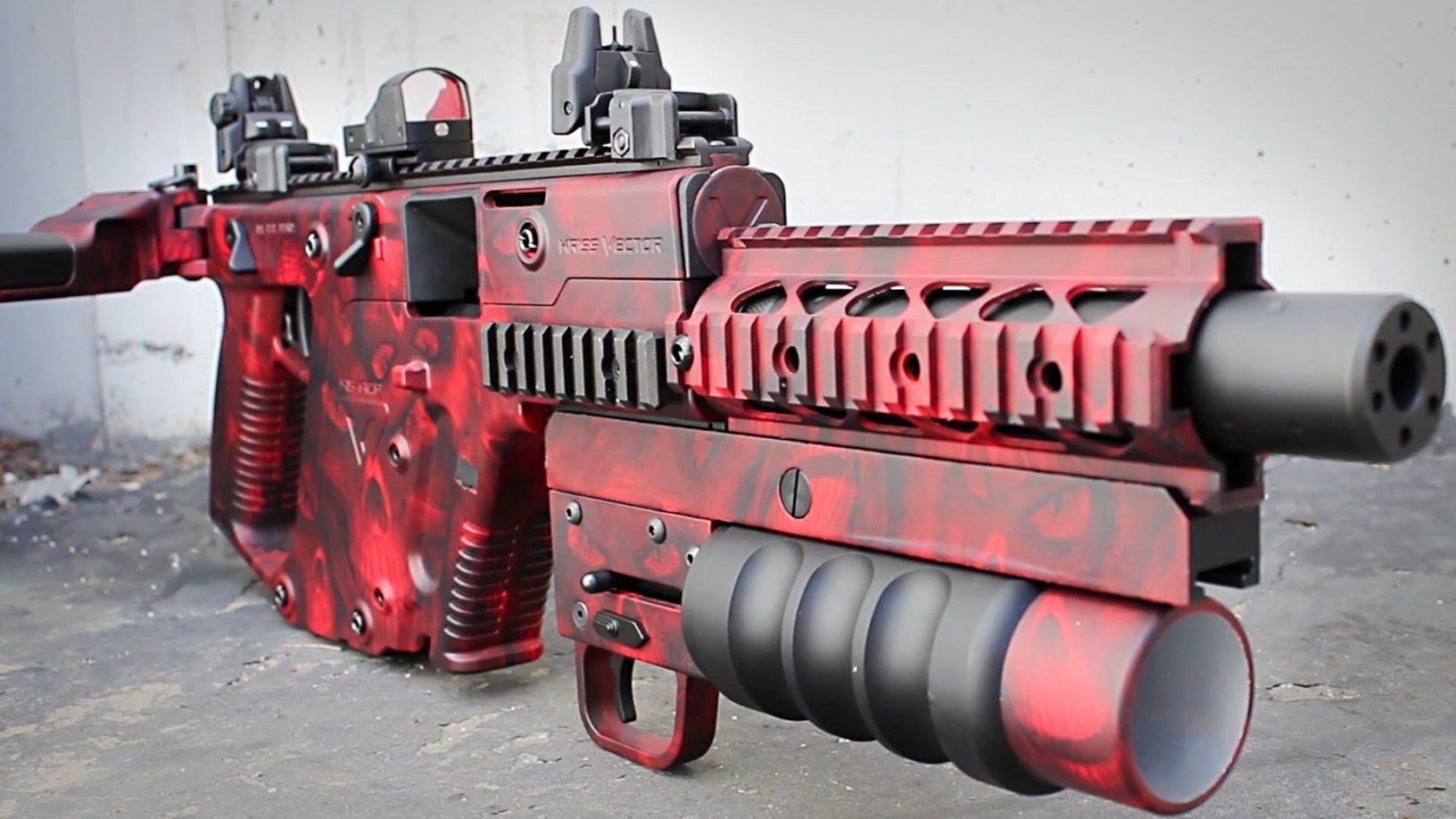 custom painted kwa kriss vector blackopsair o