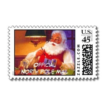 Official North Pole Santa Postage From Zazzle