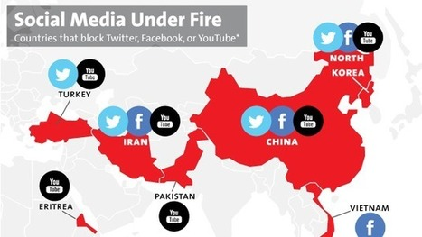 MAP: Here are the countries that block Facebook, Twitter, and YouTube | compartir conocimiento y trabajo colaborativo | Scoop.it