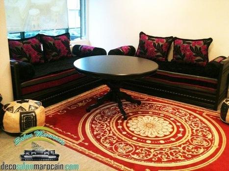 salon marocain adequat salon marocain moderne 2014 - Salon Grenat Moderne