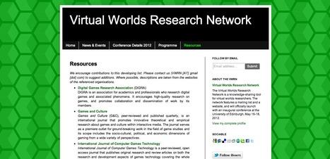 Virtual Worlds Research Network: Resources | #TRIC para los de LETRAS | Scoop.it