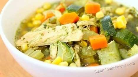 Immunity Boosting Green Chicken + Veggie Soup (video) | Clean & Delicious with Dani Spies | Truly Healthy Recipes | Scoop.it