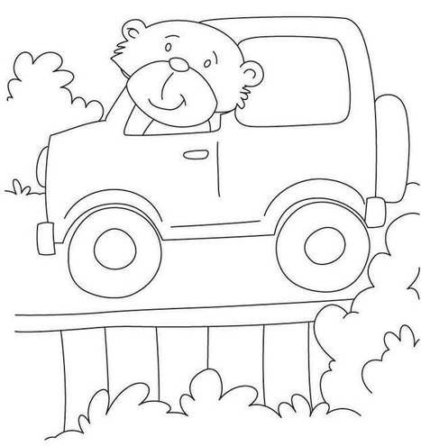 free jeep coloring pages to print - Jeep Coloring Pages