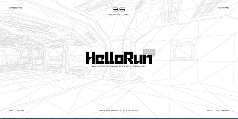 [game] HelloRun™ | [graphic + web design] - typography, ergonomy & visual identity | Scoop.it