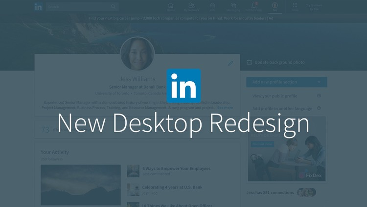 LinkedIn Desktop Redesign Puts Conversations and Content at the Center | The MarTech Digest | Scoop.it