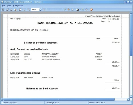 bank reconciliation statement format in excel