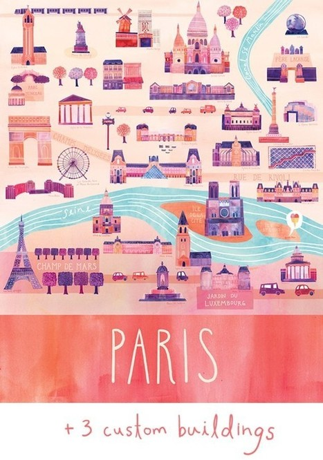 { Today I ♥ } Les jolies cartes colorées de Marisa Seguin | décoration & déco | Scoop.it