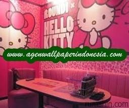 Wallpaper Dinding Hello Kitty Pink Toko Wallp