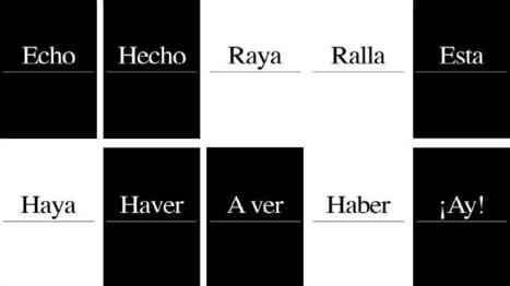 Juegos de palabras para aprender a escribir correctamente.- | Fotos , Diseños y algo más | Scoop.it