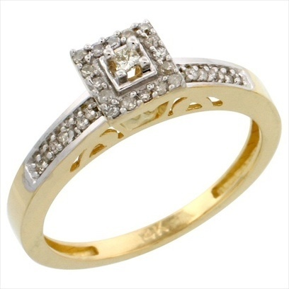 Jewels By Lux Mens .925 Sterling Silver Yellow Pave Diamond Engagement Wedding Ring Band 1//5CT Ring Size 11