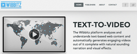 Turn Your Blog posts Into A Video Easily With Wibbitz | Podcasts | Scoop.it