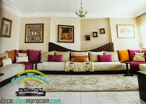 Salon Marocain confortable haute Design | Salon...