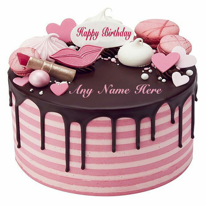 happy birthday cake with name edit for facebook' in edit images