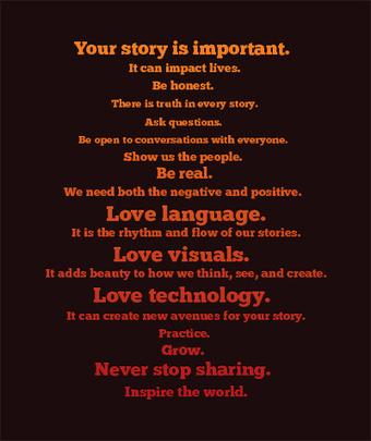 Digital Storytelling Manifesto | Amanda Lewan | Just Story It! Biz Storytelling | Scoop.it