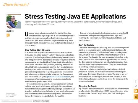 Stress Testing Java EE Applications | Desarrollo WEB | Scoop.it