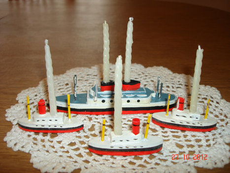 Vintage Wooden Boat Four Piece Birthday Candle Holder Set From The 1950's - Vintage Birthday Cake Decorations - Cake Decorations   Antiques & Vintage Collectibles   Scoop.it