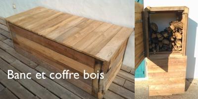 Fabriquer un coffre de rangement en bois bric - Coffre a bois de chauffage ...