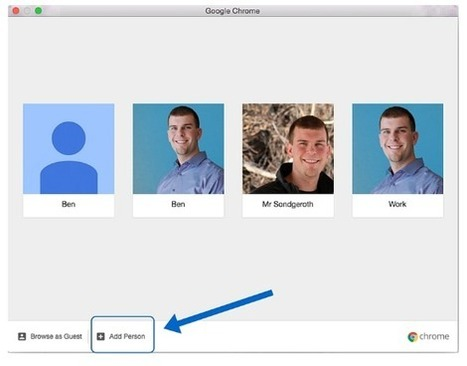 Free Technology for Teachers: Create Multiple Chrome Profiles to Use Multiple Google Accounts | My K-12 Ed Tech Edition | Scoop.it